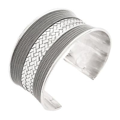 Large Silver Cuff  bangle For women