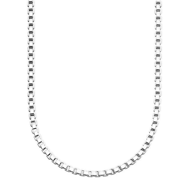 Silver Box chain necklace