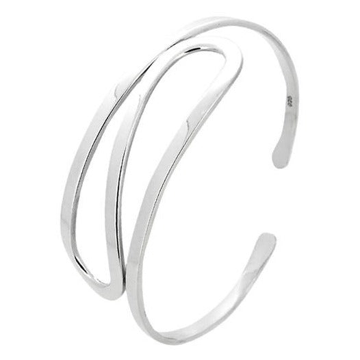 ladies silver line bangle