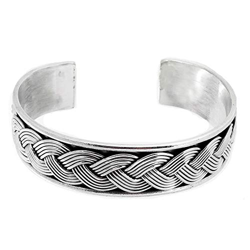 heavy silver cuff bangle for men