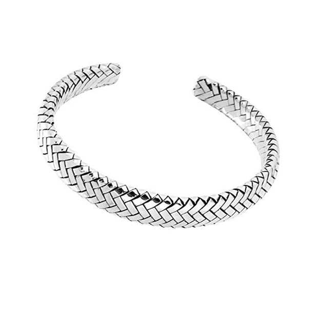 solid silver bangle for men