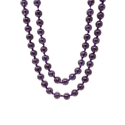 8mm Purple Crystal Necklace 120cm