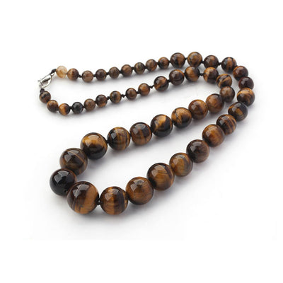 tiger eye gemstone necklace