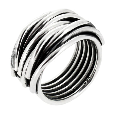 women silver wrap ring
