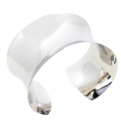 Stylish 40mm Plain Sterling Silver Cuff