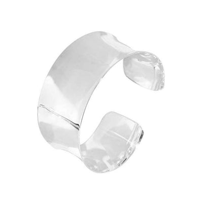 plain silver cuff for women