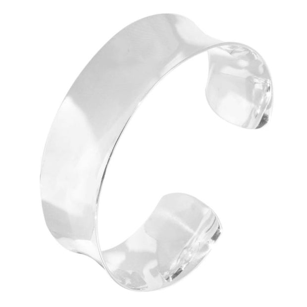 20mm Plain 925 Sterling Silver Cuff Bangle