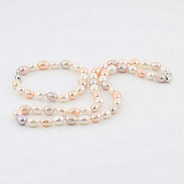 8-9mm AA Grade Pearl Necklace, Bracelet and Earrings Set