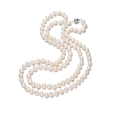 white pearl necklace for women