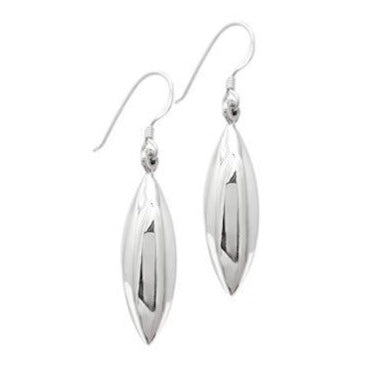 sterling silver marquise drop earrings