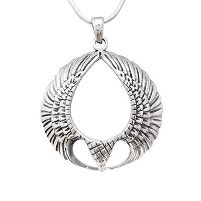 sterling silver eagle wings pendant