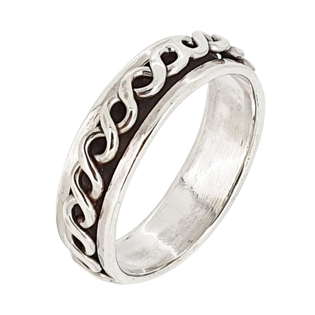 6mm Rope Twisted Spinning Thumb Ring
