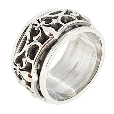 celtic spinning ring for men