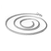 Solid 925 Sterling Silver Fox Tail Chain Necklace