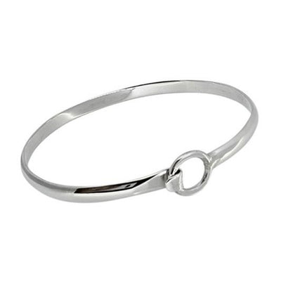 ladies silver bangle bracelet