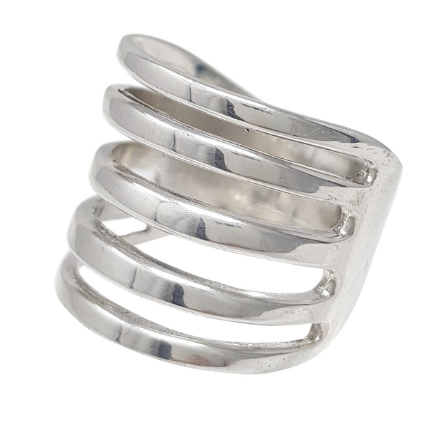Stunning Women's Sterling Silver Wrap Ring