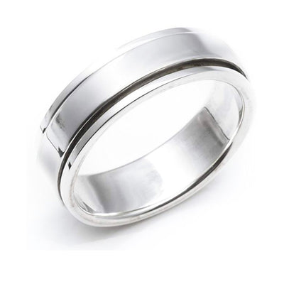 silver ring spinning ring