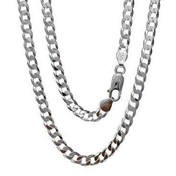 mens heavy sterling silver curb chain