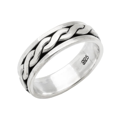 celtic silver ring spinner