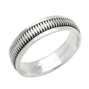 Silver spin Ring for women