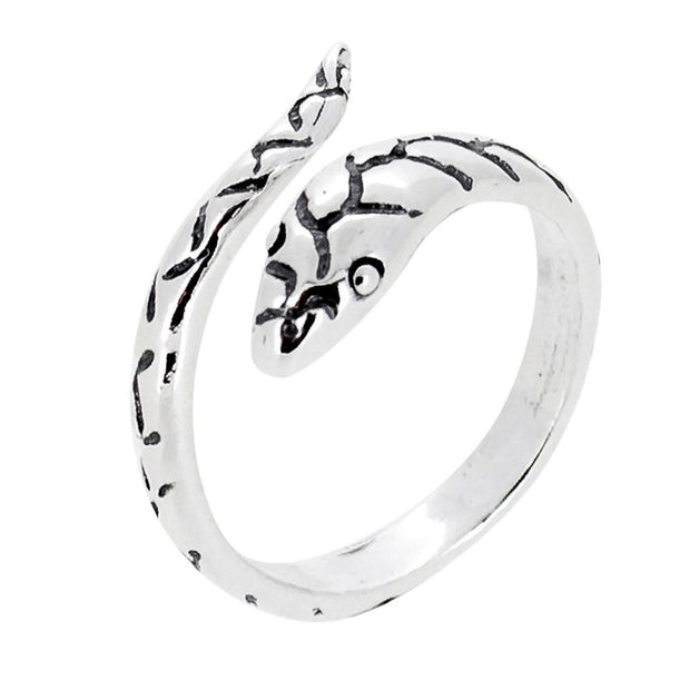 Solid 925 Sterling Silver Snake Ring for Women