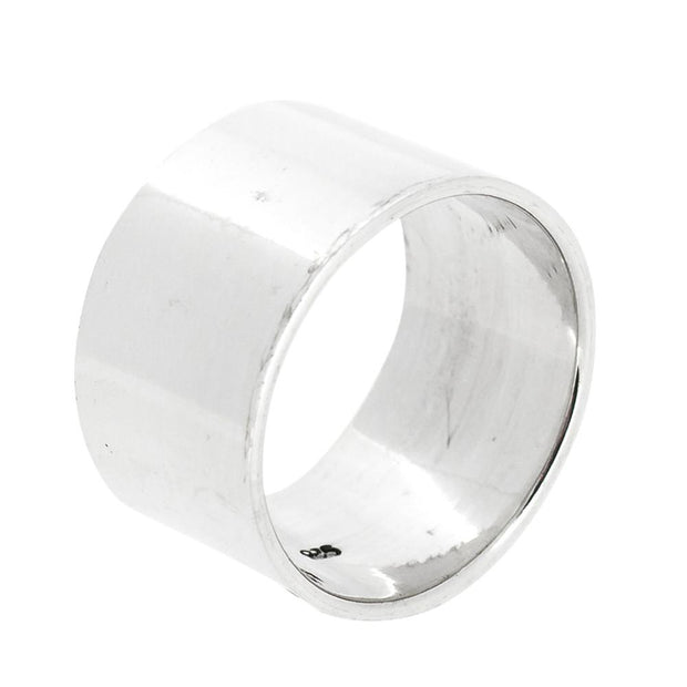 Chunky silver ring for women