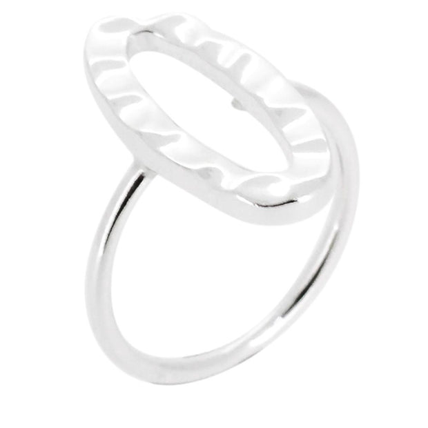 Hammered Silver Ring for Women