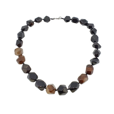 Chunky Natural Black Gemstone Necklace