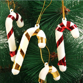 1/6/12/18Pcs Christmas Canes Christmas Tree Decorations for Home Party New Year Christmas Candy Cane Xmas Tree Hanging Ornaments