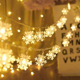 1.5M 10 LED  Garland Snowflakes Led Lights Decoration Fairy Lights Christmas Decorations for Home New Year Decoration Navidad