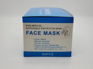 Disposable Non-medical 3ply Face Mask