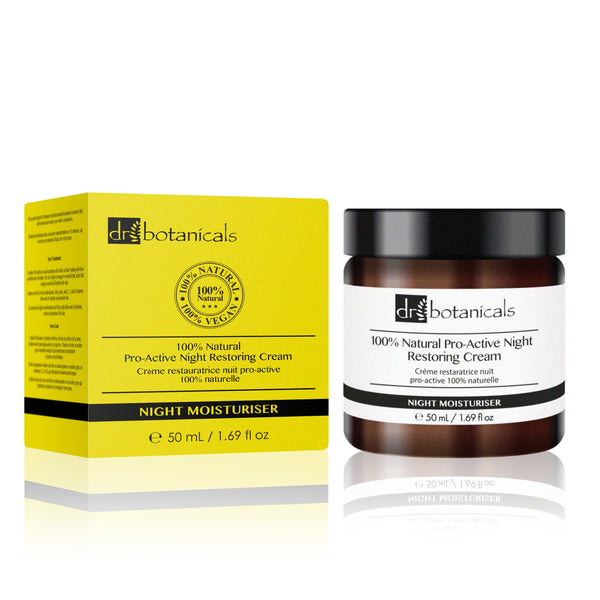 100% Natural Pro-Active Night Restoring Cream - Dr. Botanicals Skincare