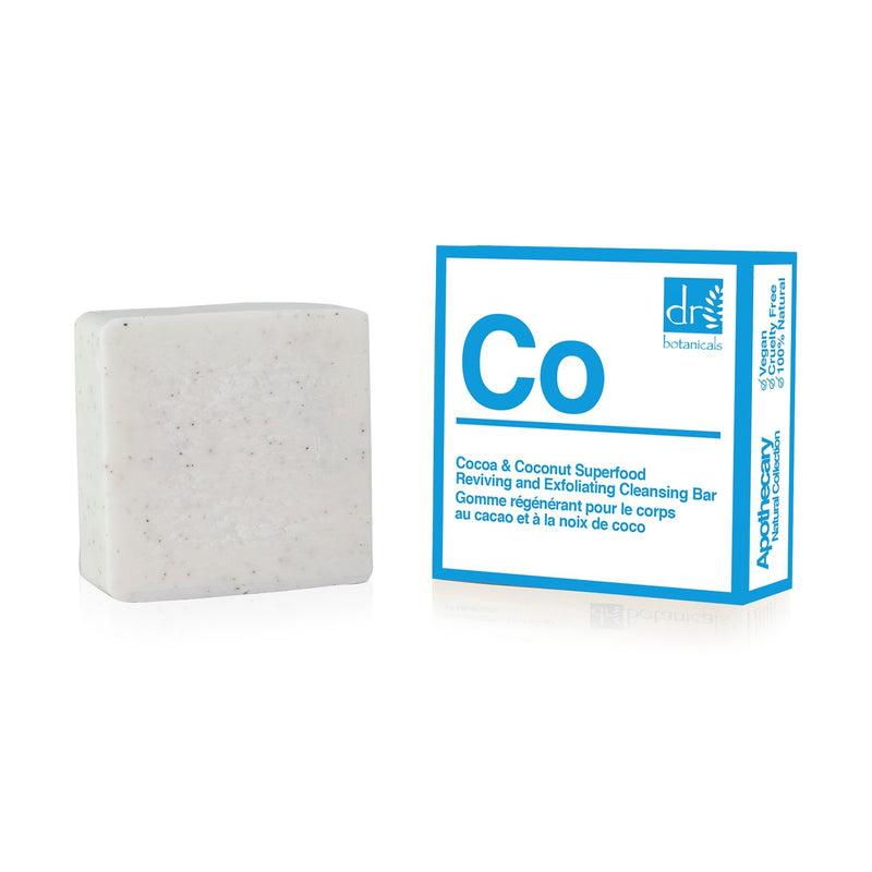 Cocoa and Coconut Superfood Reviving and Exfoliating Cleansing bar - Dr. Botanicals Skincare