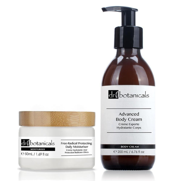 Advanced Body Cream & Free-Radical Protecting Daily Moisturiser Gift Set - Dr. Botanicals Skincare