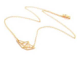 Boat Origami Necklace Gold / Silver - Shany Design Studio Jewellery Shop