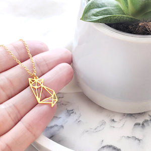 Cat Origami Necklace Gold / Silver - Shany Design Studio Jewellery Shop