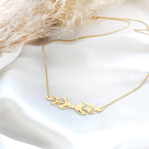 Wheat leaves Necklace Gold / Silver