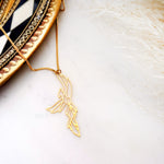 Geometric Phoenix Bird Necklace Gold / Silver