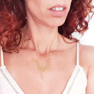 Load image into Gallery viewer, Dragon Necklace Gold / Silver - Shany Design Studio Jewellery Shop