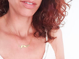 Love Birds Necklace Gold / Silver - Shany Design Studio Jewellery Shop