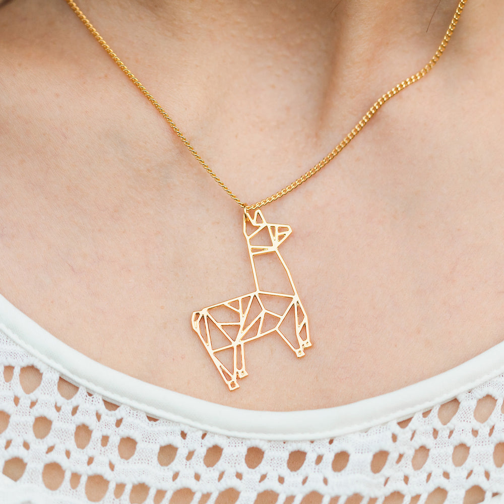 Llama Alpaca Necklace Gold / Silver - Shany Design Studio Jewellery Shop