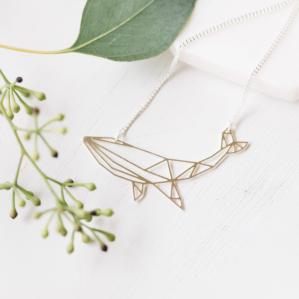 Origami Whale Necklace Gold / Silver - Shany Design Studio Jewellery Shop