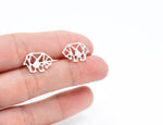Geometric Origami Bear stud Earrings Gold / Silver - Shany Design Studio Jewellery Shop