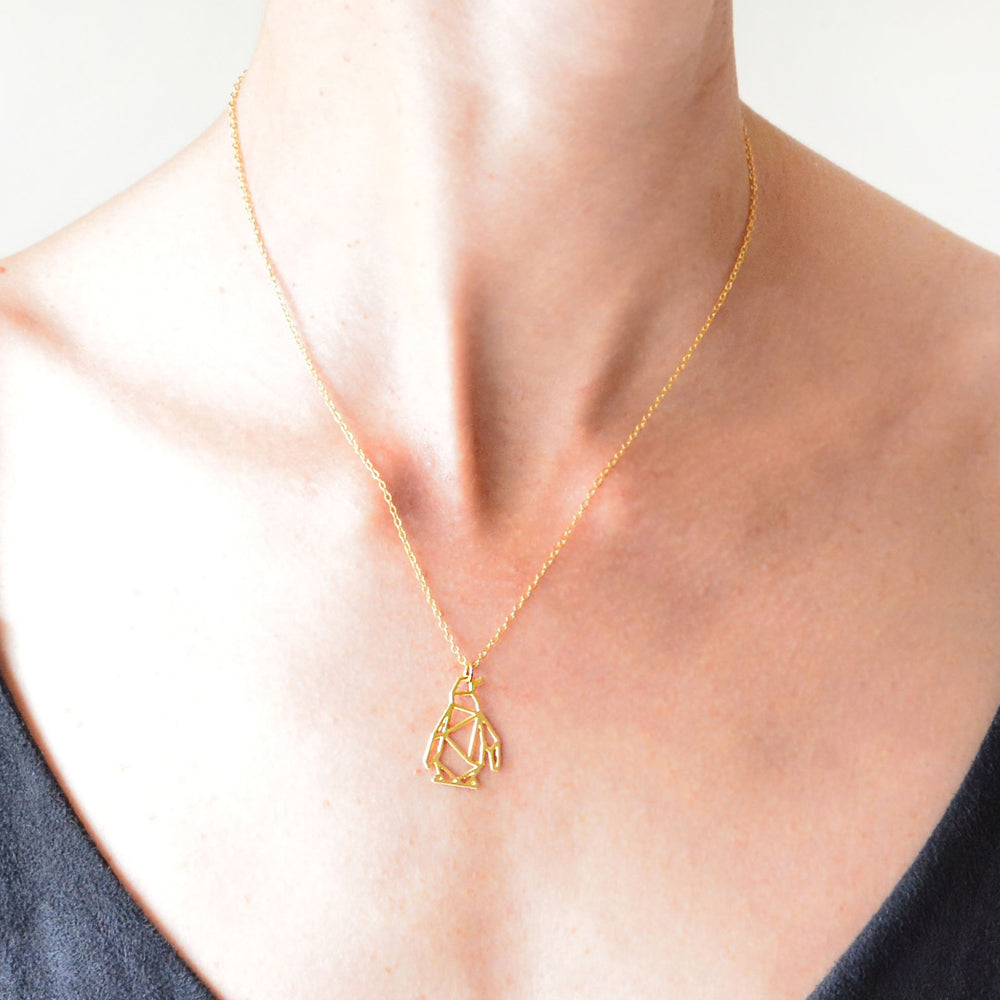 Geometric Penguin Necklace Gold / Silver - Shany Design Studio Jewellery Shop