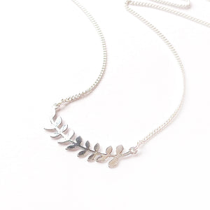Laurel leaves branch necklace Gold / Silver - Shany Design Studio Jewellery Shop