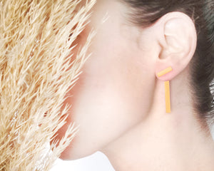 Geometric minimalist Stripe Ear jacket Gold / Silver - Shany Design Studio Jewellery Shop