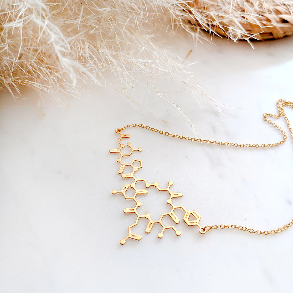 Oxytocin Molecule Necklace Gold / Silver - Shany Design Studio Jewellery Shop