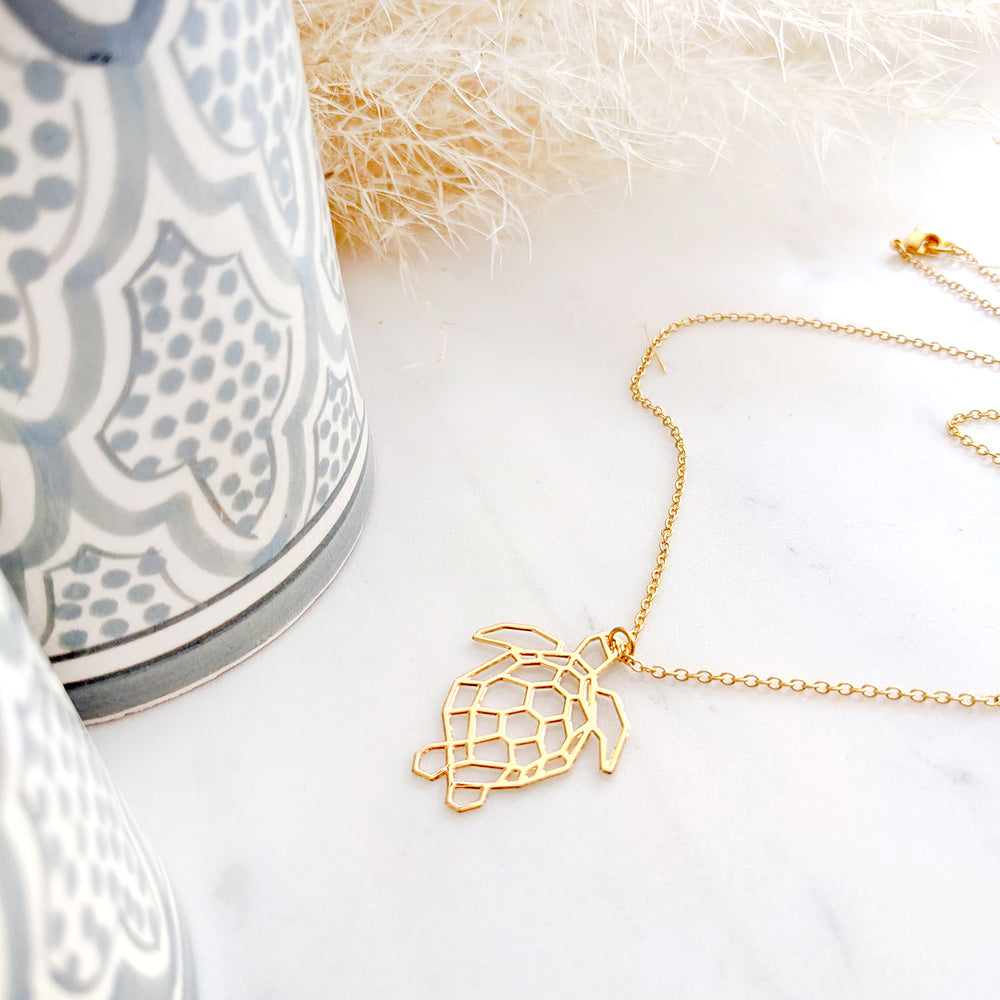 Turtle Necklace Gold / Silver - Shany Design Studio Jewellery Shop