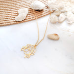 Crab origami necklace Gold / Silver
