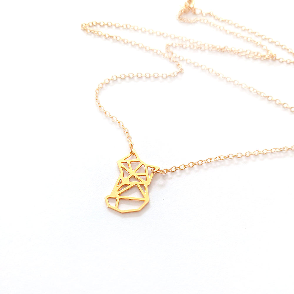 Fox Origami Necklace Gold / Silver - Shany Design Studio Jewellery Shop